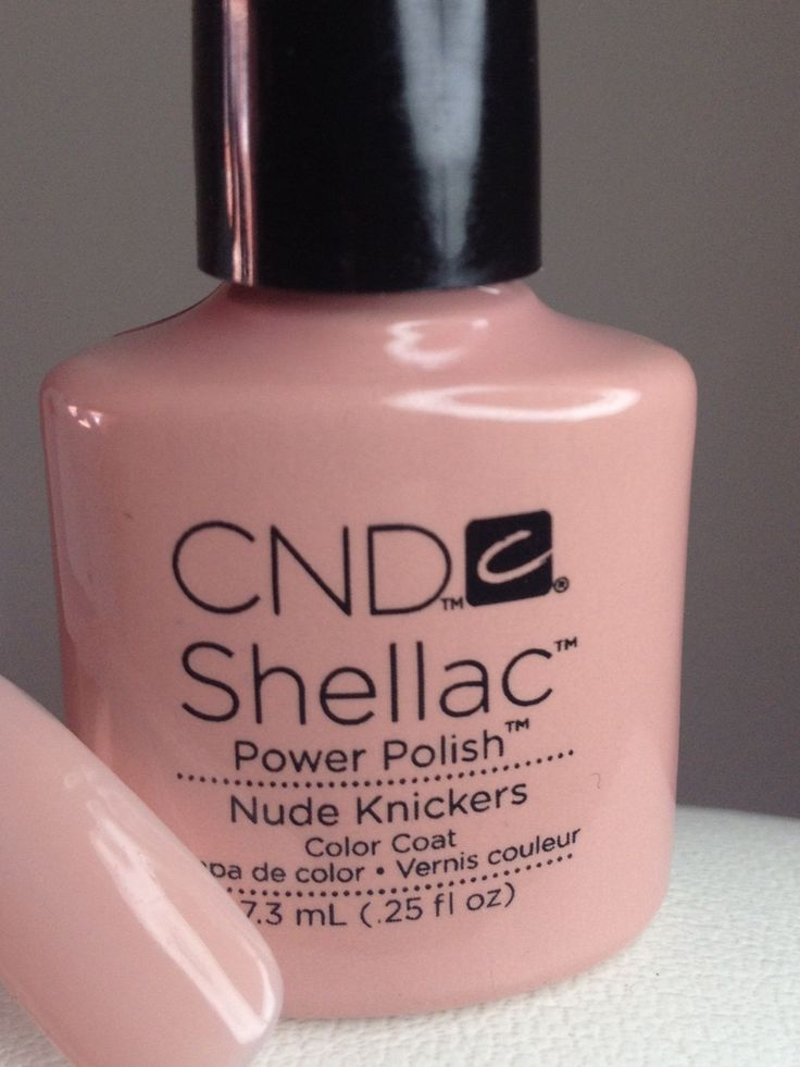 """CND Shellac's new colour """"Nude Kickers"""". Perfect for a wedding."""