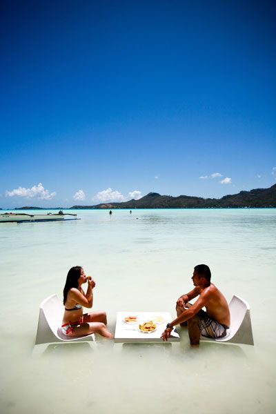 Honeymoon in Bora Bora, Tahiti. We already decided this is where we are going!!! Cant wait