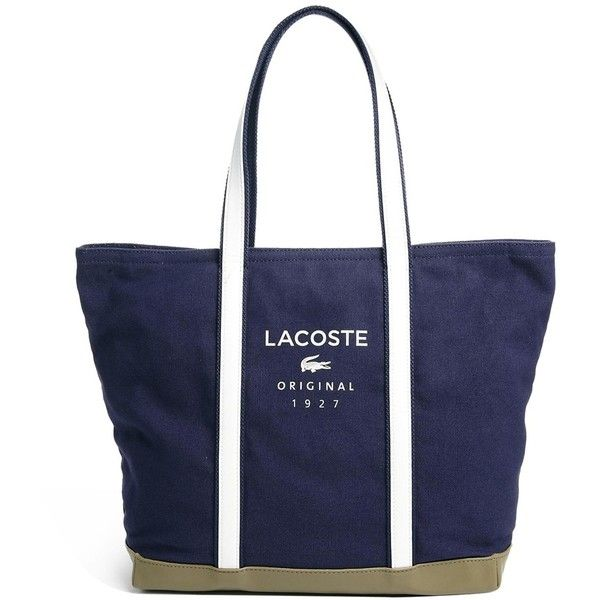 Lacoste Sport Shopper Bag (€81) ❤ liked on Polyvore featuring bags, handbags, tote bags, blue tote, lacoste, lacoste tote, shopping tote bags and blue handbags