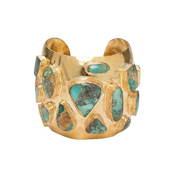 The Adonie Cuff Gold & Turquoise | Christie Nicolaides