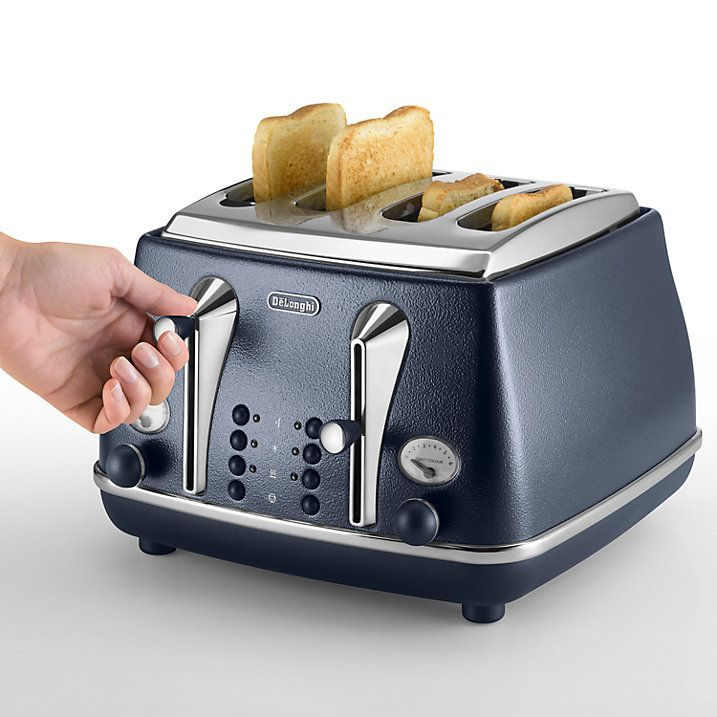 Buy De'Longhi Elements 4-Slot Toaster, Ocean Blue Online at johnlewis.com