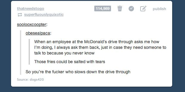 The two types of drive-thru users. | There Are Two Types Of People In This World