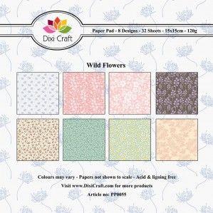 Papiery 15x15cm - Dixi - Wild Flowers - dzikie kwiaty