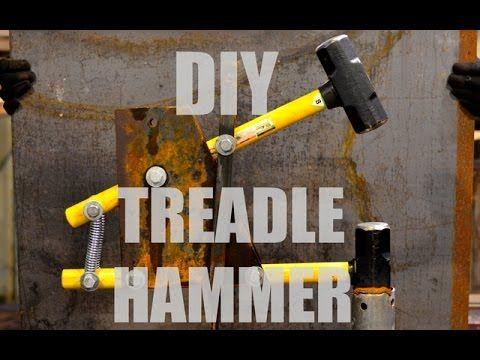 How to Build a Power Hammer: My Power Hammer Plans for a Homemade DaVinci Cam Helve Hammer - YouTube