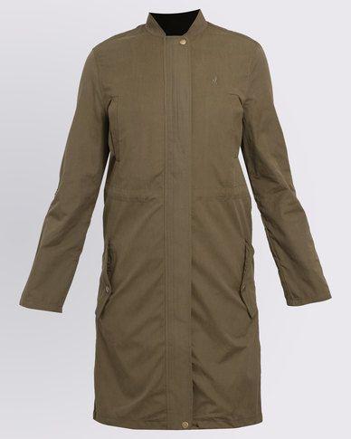 Polo Ladies Parka Jacket Military Green