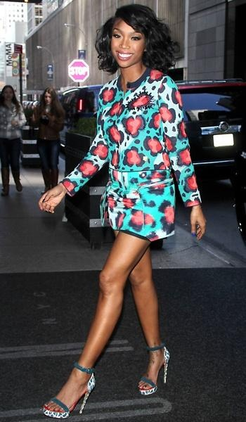 Brandy Norwood after an appearance on The Wendy Williams ...
