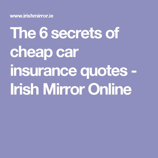 Top 25 Ideas About Car Insurance On Pinterest
