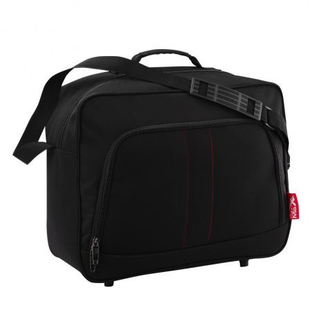 A compact, practical and lightweight shoulder bag which has been designed specifically to maximise the unique free hand luggage allowance of Wizz Air.