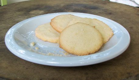 Crispy Sugar Cookies This recipe is just like my grandmother's except she used real home churned butter. They are wonderful!