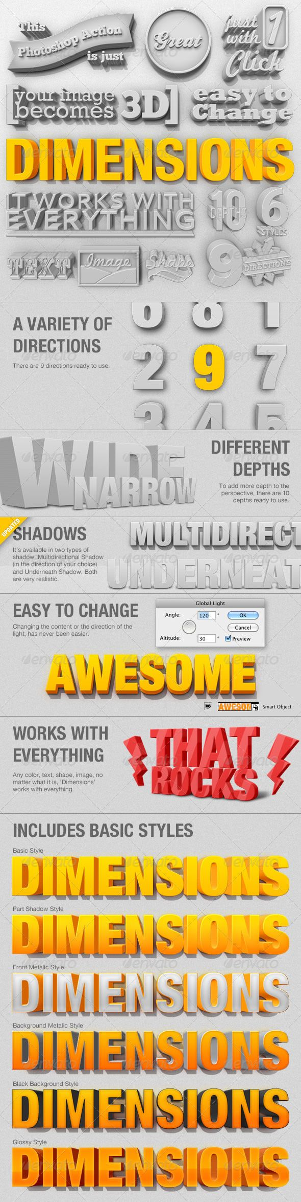 Photoshop 3D Generator that produces remarkable effects with text and logos.  Will add so much to a flat page on your blog or website.  #Photoshop #Photography Tips #fonts