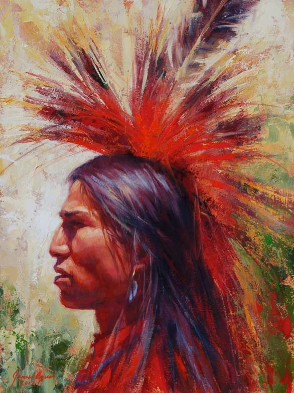Forever Brave, Piegan Blackfoot by James Ayers