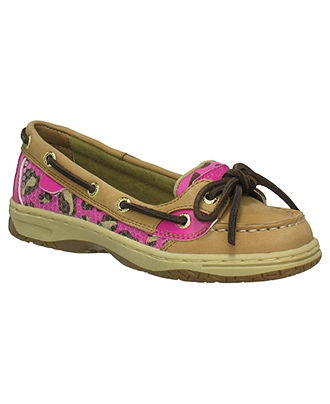 Sperry Kids Shoes, Little Girls Leopard Angelfish Boat Shoes - Kids - Macy's