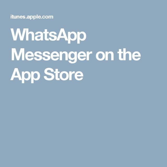 WhatsApp Messenger on the App Store