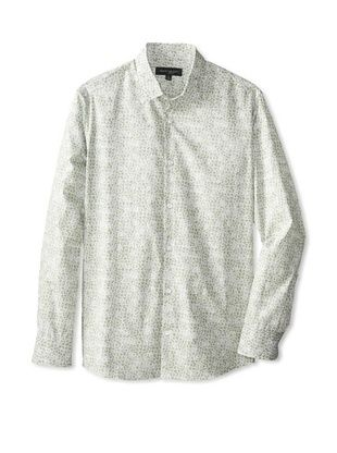 59% OFF Robert Barakett Men's Wally Long Sleeve Woven Shirt (Light Grey)