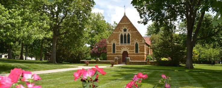 The Clarice L. Osborne Memorial Chapel was moved stone by stone from the village of Sproxton, England, to serve as the spiritual center of the university.