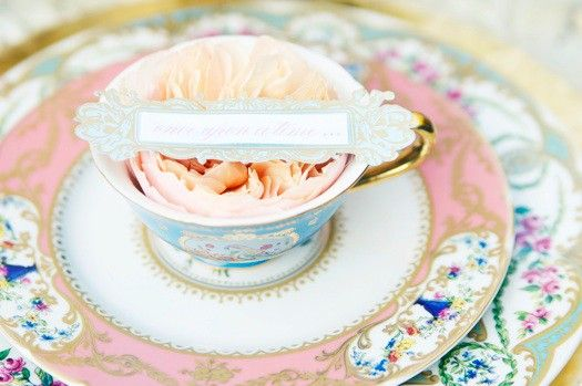 Vintage china placesetting.