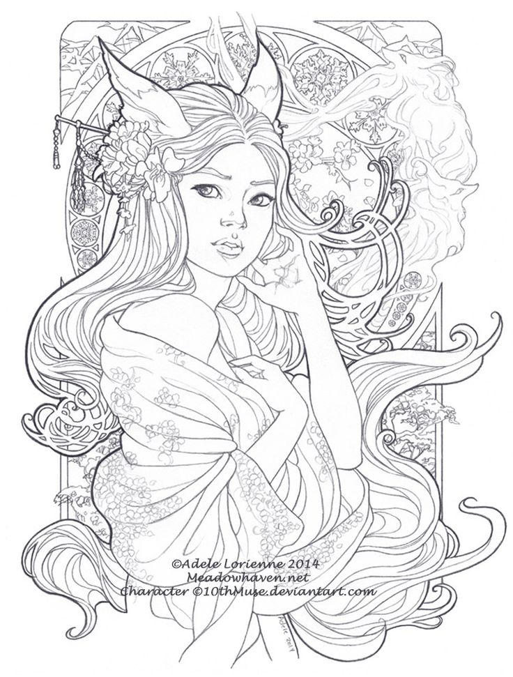 beautiful secrets lineart adele lorienne meadow haven adult coloring pagescoloring