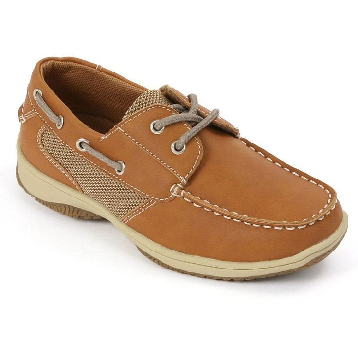 Deer Stags Jay Boys' Boat Shoes, Boy's, Size: medium (12.5), Brown