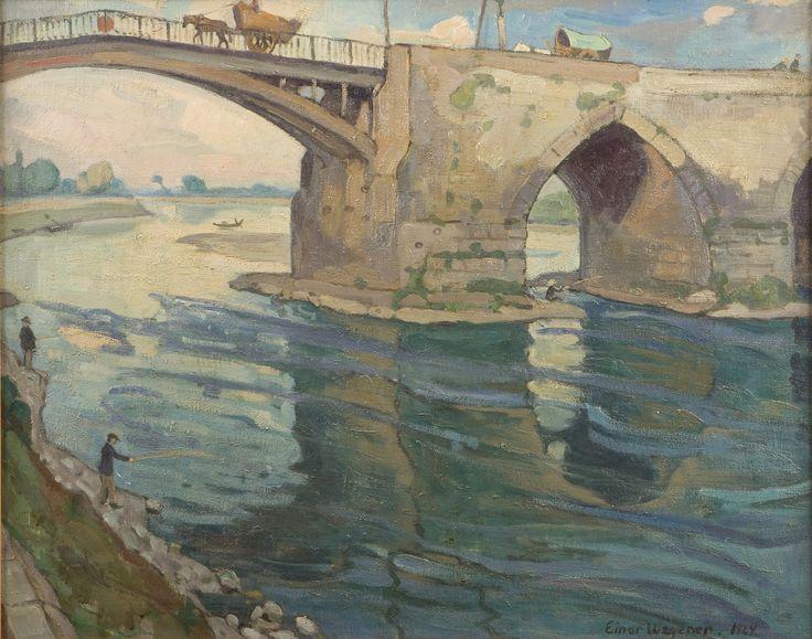 Einar Wegener: Puente sobre el Loira (Le Pont sur Loire) (1924)