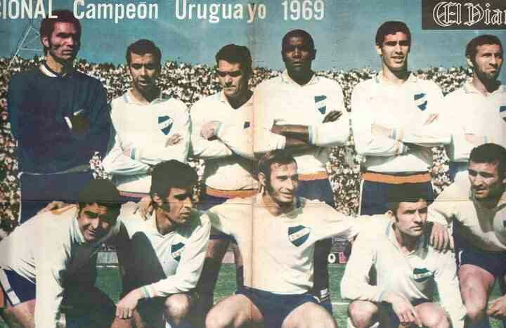 CD Nacional of Uruguay team group in 1969.
