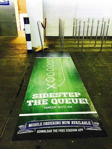 Read our latest Coleface blog on floor decals and POS marketing to support #AllianzStadium app @Coleface Print