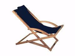Sedia a sdraio pieghevole in tessuto con braccioliBEACHER | Sedia a sdraio - ROYAL BOTANIA