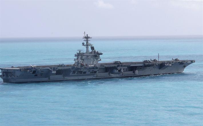 Download wallpapers American aircraft carrier, USS Abraham Lincoln, CVN-72, Nimitz-class aircraft carrier
