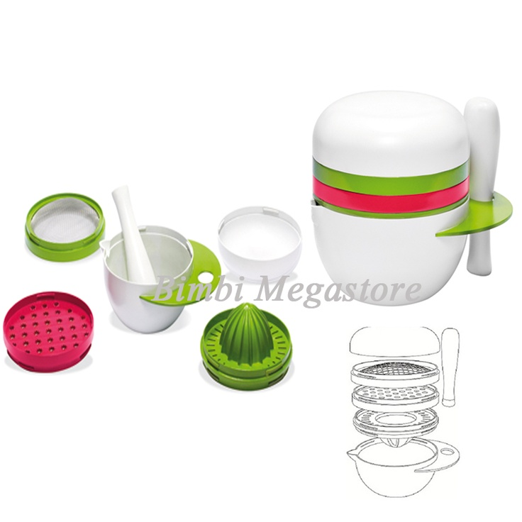Quarantasettimane - Babyfood Set Pappa 5 In 1 - Bimbi Megastore