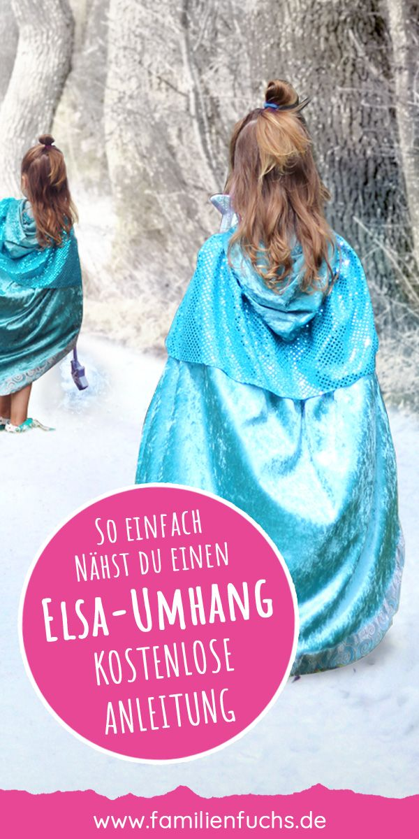 Elsa-style cape: That's how easy you sew it!