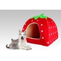$9500.- Cama iglu con forma de frutilla (en fucsia, rosado y celeste) para las mascotas, gatos, perros pequeños, conejos, etc. Posee un colchon desmontable. Base antideslizante Medidas: 36x36x36