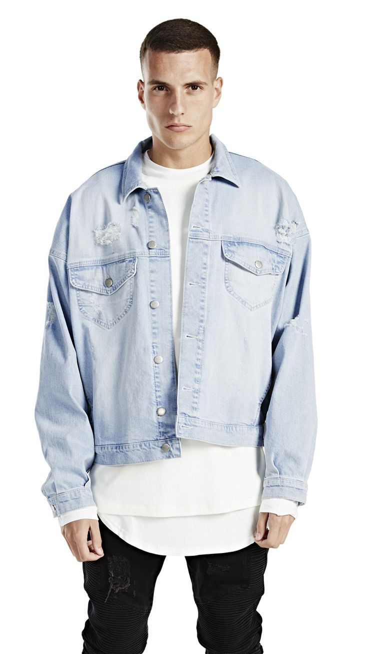 The Denim Jacket With An Oversized Fit Dropped Shoulder