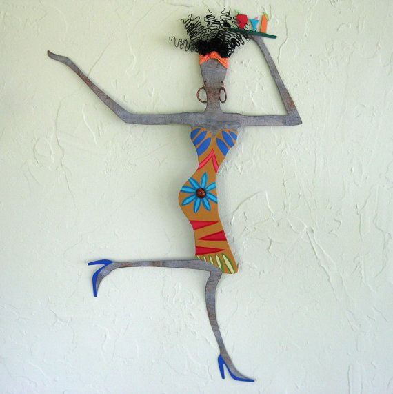 Metal sculpture art  exotic African lady  by frivoloustendencies, $225.00