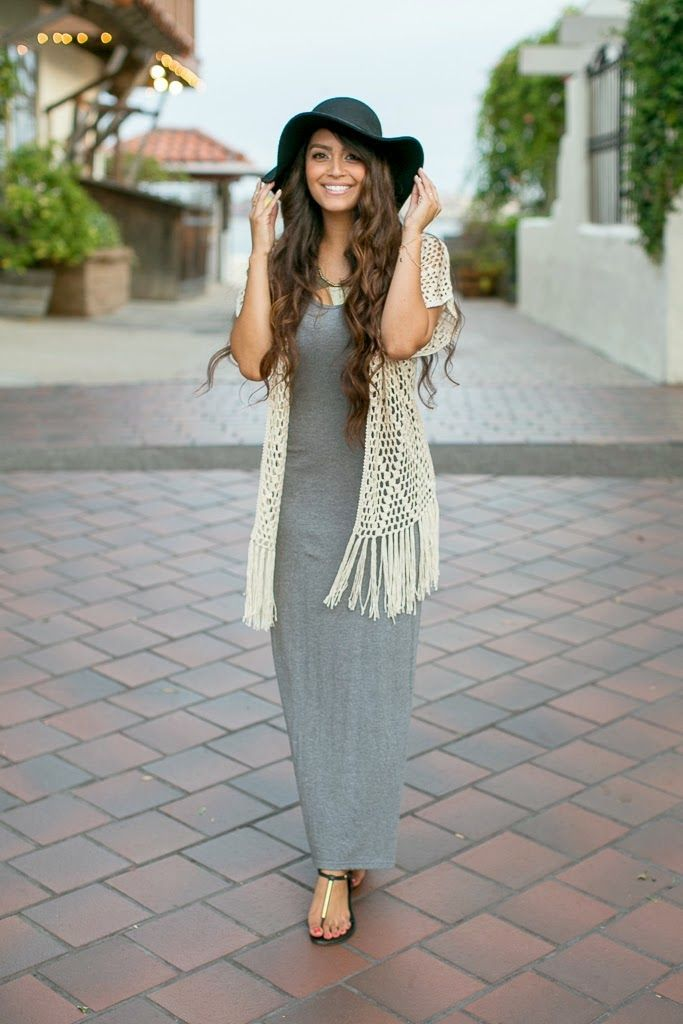 Fashion, Beauty and Style: Gorgeous Grey Maxi Dresses