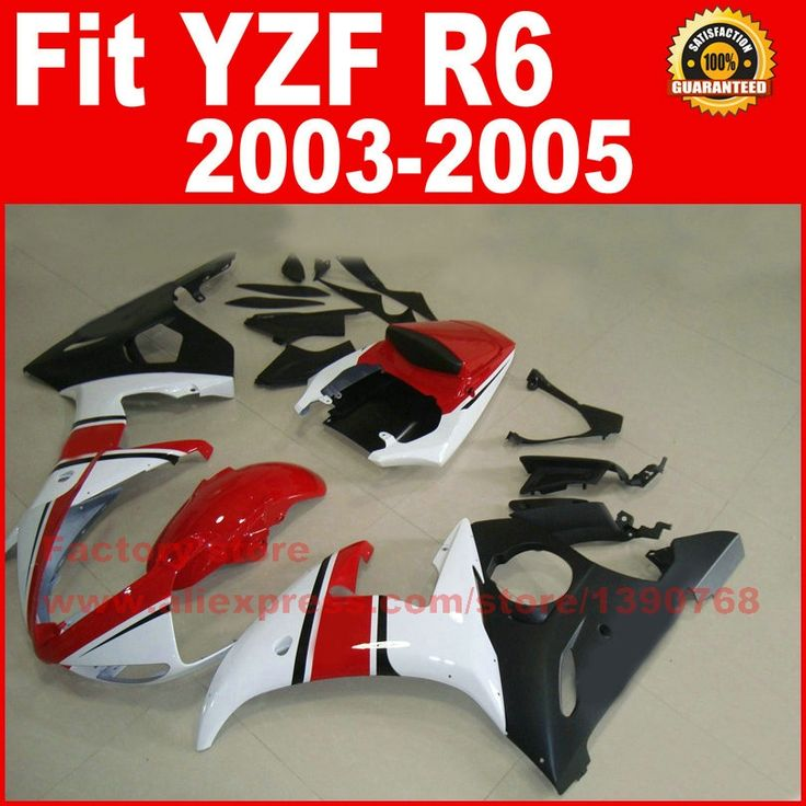 304.00$  Buy here - http://alimvy.worldwells.pw/go.php?t=32291898096 - Road/racing motorcycle factory fairings kit for YAMAHA R6 2003 2004 2005 YZF R6 03 04 05 red white fairing kits 304.00$