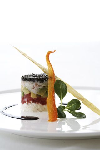 #Crab, #tuna, #avocado and #caviar tower