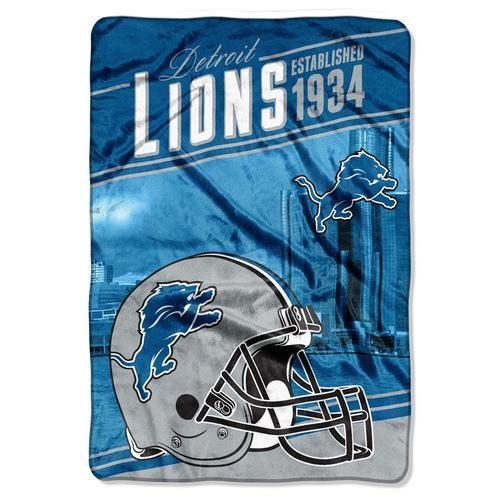 "Detroit Lions Fleece Throw - 62"""" x 90"""" Bed Cover"