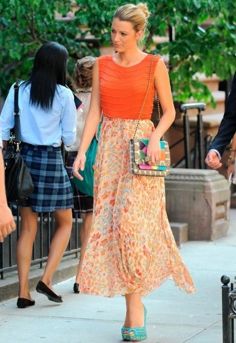 Blake Lively: fotos rodaje 6 temporada Gossip Girl