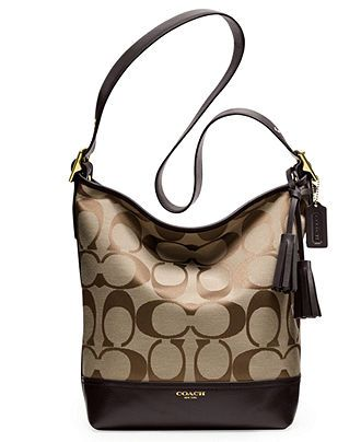 COACH LEGACY SIGNATURE DUFFLE - Handbags & Accessories - Macy's