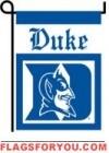 Duke Blue Devils Double Sided Garden Flag - 2 left