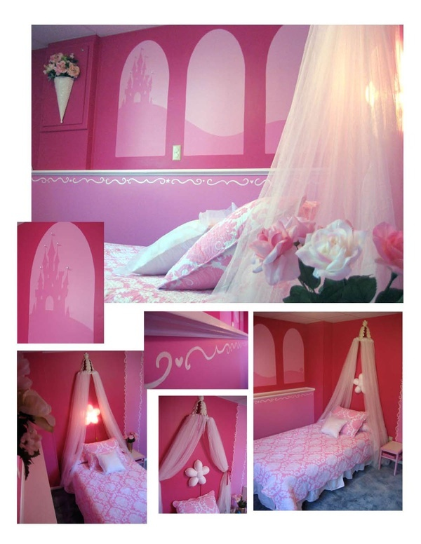 64 best images about baby girl room ideas on pinterest for Pink princess bedroom