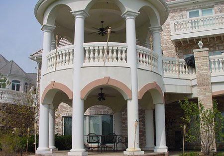 2 story tuscan columns tuscan porch columns pinterest for 2 story porch columns