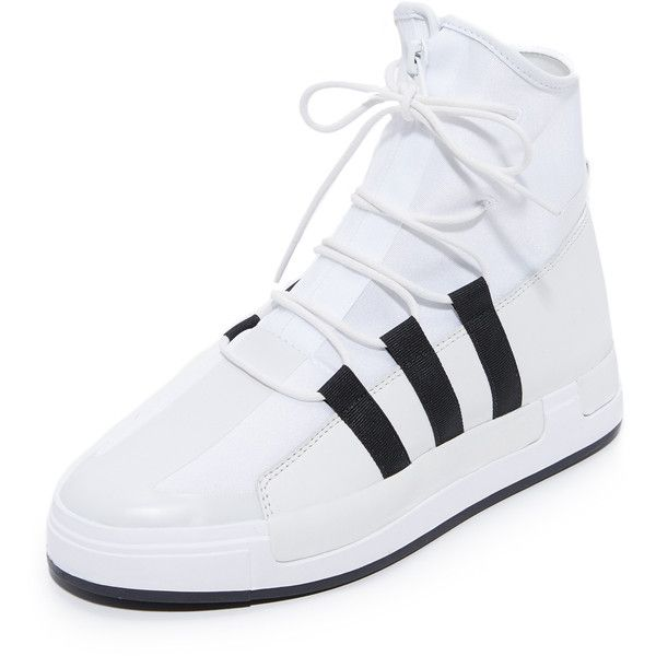 Y-3 Y-3 Atta Sneakers (€140) ❤ liked on Polyvore featuring shoes, sneakers, slim shoes, y3 shoes, y3 sneakers, rubber sole shoes and y3 trainers