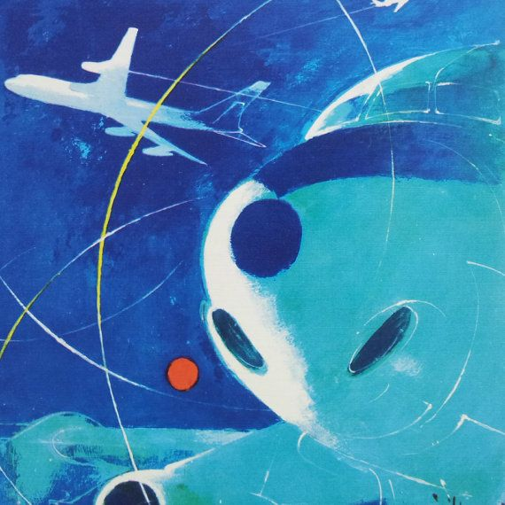 1960+SAS+Airlines+Poster+Douglas+DC8C+Coronado+by+OutofCopenhagen,+kr150.00
