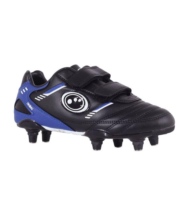 Tribal Football Boot Velcro 6 Stud JNR - Black/Blue Free UK & EUROPEAN delivery!! #footballboots  #footballshoes  #footballkits  #footballgear  #footballlife