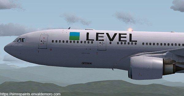 Level A330-202. El grupo #IAG ha lanzado su nueva aerolínea low cost, #Level. Operada por Iberia, realizará vuelos de bajo coste y largo recorrido desde el aeropuerto de El Prat LEBL (Barcelona) con destino a Los Angeles, San Francisco, Punta Cana y Buenos Aires, iniciará sus rutas en junio de 2017. #Airbus #Airbus330 #Simrepaints. https://simrepaints.envaldemoro.com/level-a330-202/