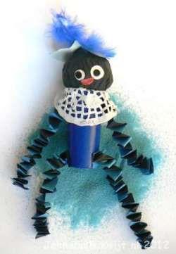 Zwarte Piet knutselen van wc rol