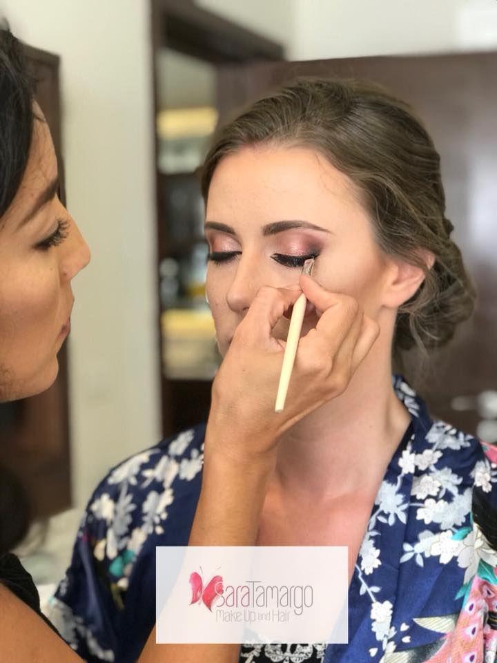 Maquillaje en proceso, delineado perfecto por sara tamargo makeup and hair