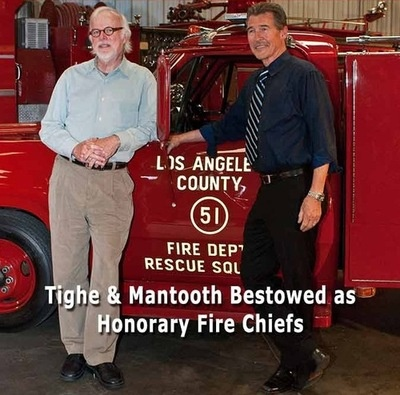 Randolph Mantooth and Kevin Tighe - Newer picture honorary fire chiefs