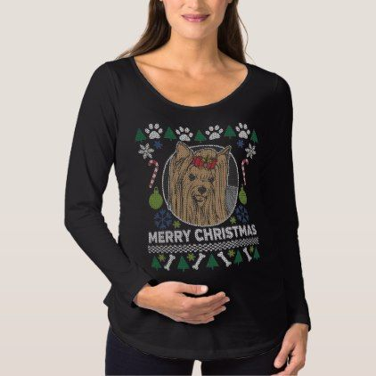 Yorkie Dog Breed Ugly Christmas Sweater - dog puppy dogs doggy pup hound love pet best friend