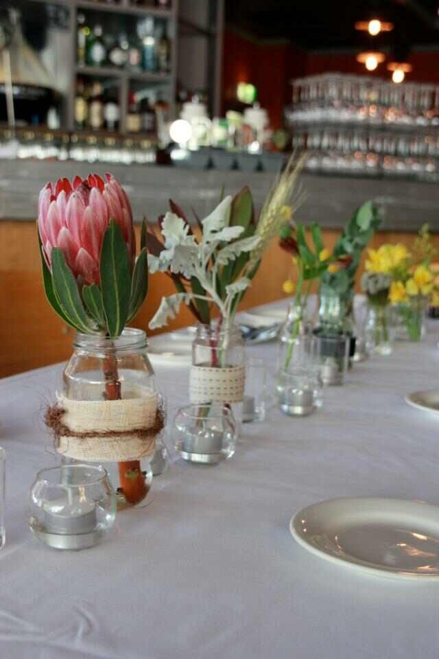 Native flowers - table settings. Photo from The Wild Peony & 11 best Long lunch images on Pinterest | Weddings Floral ...
